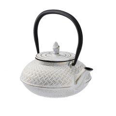 Gusseisen Teekanne, weiß