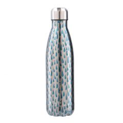 Thermosflasche Design, Tropfen/blau, 0.5 L