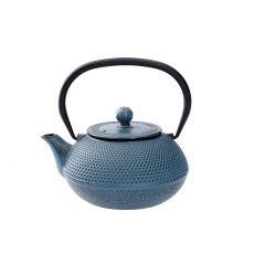 Gusseisen Teekanne, blau