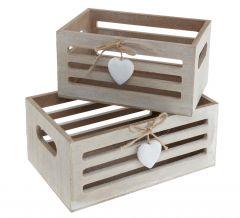 2er Set Mini-Kiste, Herz