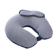 Nackenkissen mit Maske, blau