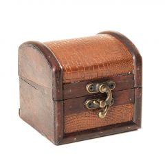 Schatztruhe Mini, braun, 9 cm