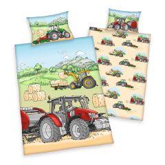 Bettwäsche, Traktor, 100 x 135 cm
