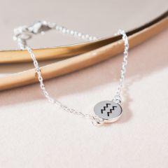 Armband silber, Sternzeichen, Wassermann