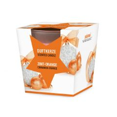 Duftkerze im Glas Xmas, Zimt-Orange