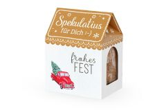 Spekulatiushaus Frohes Fest, 100 g