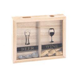 Kronkorken-Sammler, Bier und Wein