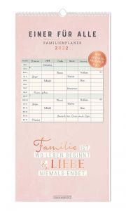 Familienplaner 2022, rosa